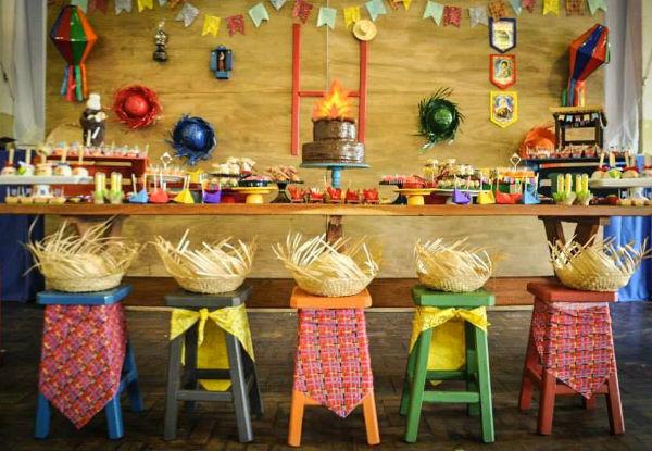 tema festa junina mesa